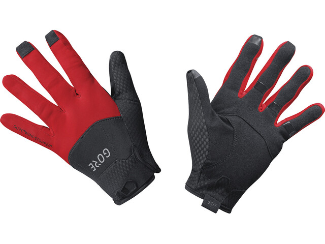 GORE WEAR C5 Windstopper Gloves black/red